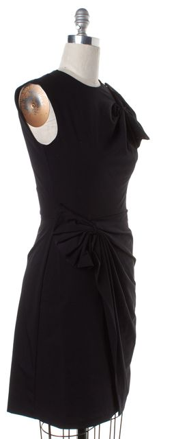 DIANE VON FURSTENBERG Black Agata Sheath Dress