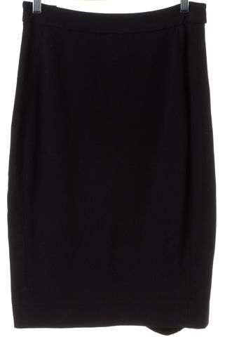 DIANE VON FURSTENBERG Black Panel Acmis Pencil Skirt
