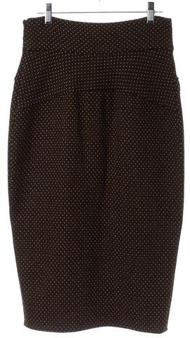 DIANE VON FURSTENBERG Brown Polka Dot Wool Marple Pencil Skirt