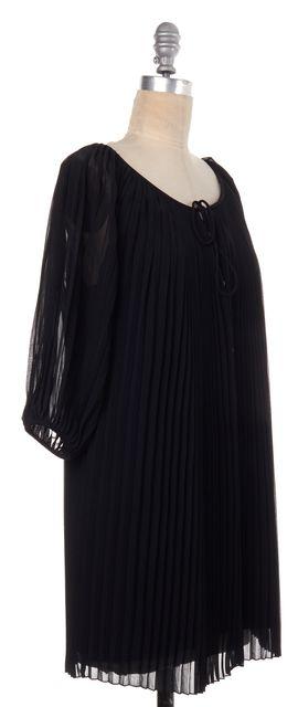 DIANE VON FURSTENBERG Black Pleated Keoni Dress