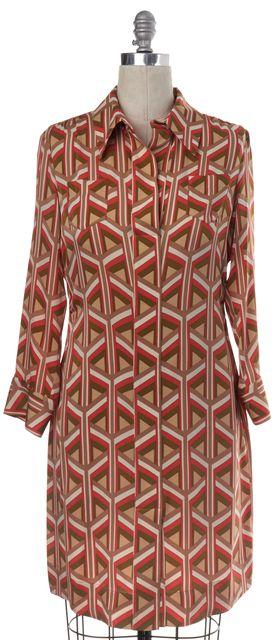 DIANE VON FURSTENBERG Multi-color Geometric Silk Lodevale Shift Dress