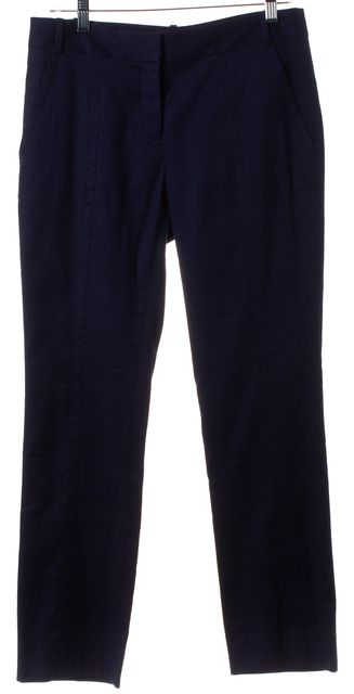 DIANE VON FURSTENBERG Blue Linen Carissa Casual Pants