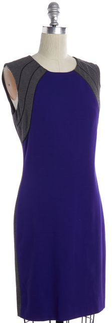 DIANE VON FURSTENBERG Indigo Blue Gray Hallie Sheath Dress