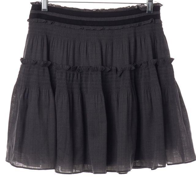DIANE VON FURSTENBERG Gray Black A-Line Skirt
