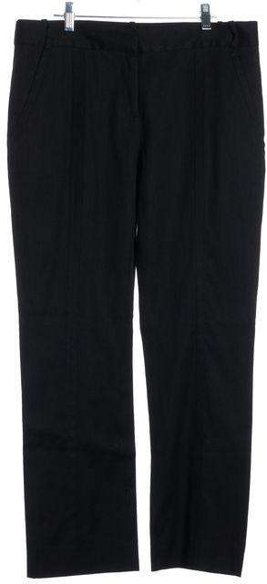 DIANE VON FURSTENBERG Black Linen Carissa Trousers Pants