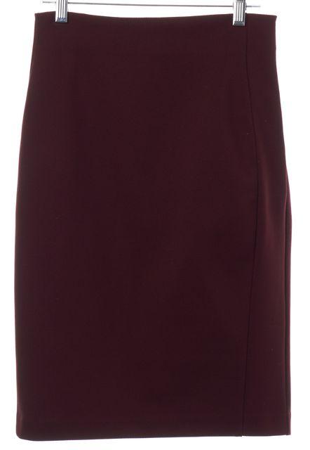 DIANE VON FURSTENBERG Burgundy Red Pencil Skirt