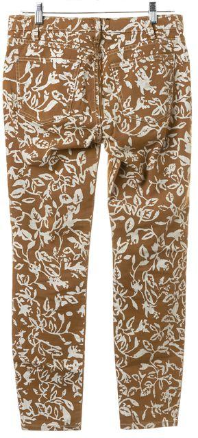 DIANE VON FURSTENBERG x CURRENT ELLIOT Yellow White Print Skinny Jeans