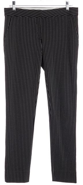 DIANE VON FURSTENBERG Black White Striped DVF Genesis WB Dress Pants