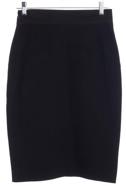 DIANE VON FURSTENBERG Black Marta Pencil Skirt