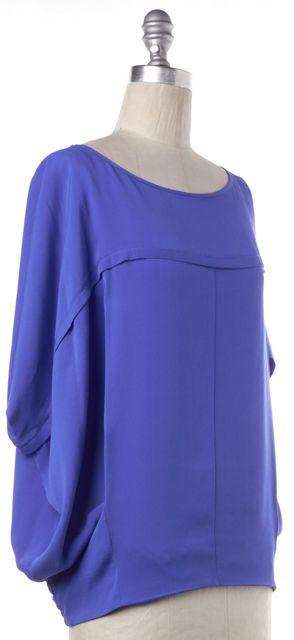 DIANE VON FURSTENBERG Blue Silk Blouse Top