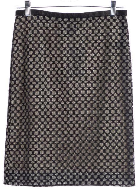 DIANE VON FURSTENBERG Black Stevie Net Lace Pencil Skirt