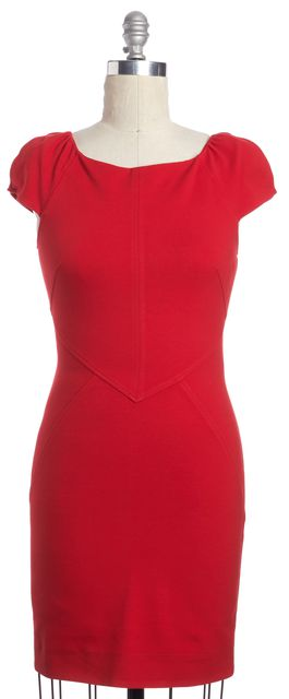 Dvf helen dress red