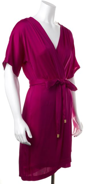 DIANE VON FURSTENBERG Purple Silk Genevieve Sheath Dress