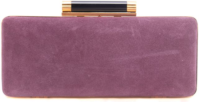 DIANE VON FURSTENBERG Purple Gold Black Minaudière Tonga Clutch
