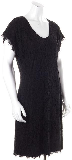 DIANE VON FURSTENBERG Black Lace Wanda Sheath Dress
