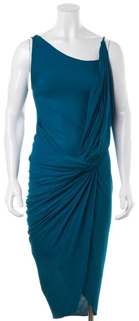 DIANE VON FURSTENBERG Teal Blue Bodycon Dress
