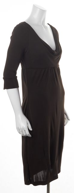 DIANE VON FURSTENBERG Brown Scoop Neck Empire Waist Sheath Dress