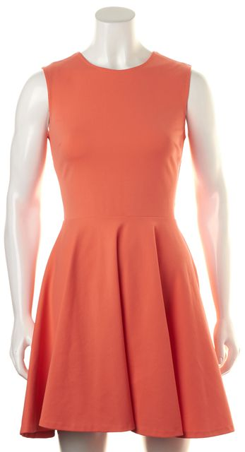 DIANE VON FURSTENBERG Orange Fit & Flare Dress