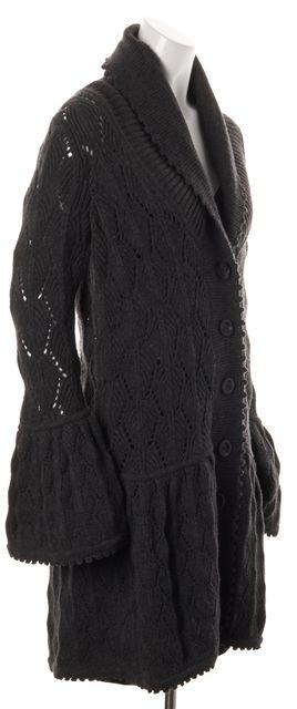 DIANE VON FURSTENBERG Gray Wool Joelle Sweater Jacket Sweater Coats