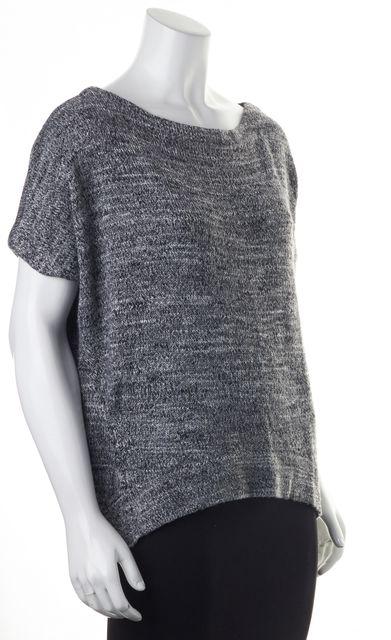 DIANE VON FURSTENBERG Gray Black White Knit Oversized Sweater Top