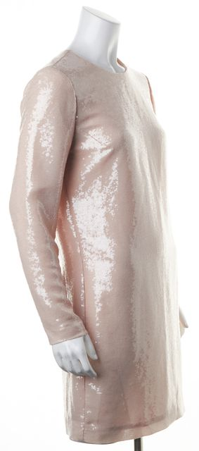 DIANE VON FURSTENBERG Pink Nougat Menaro Sequin Shift Dress