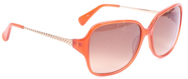 DIANE VON FURSTENBERG Orange Gold Frames Brown Gradient Lenses Regina Sunglasses