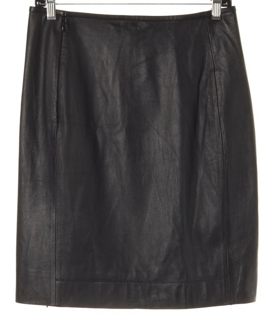 DIANE VON FURSTENBERG Black Rita Two All Over Leather Skirt