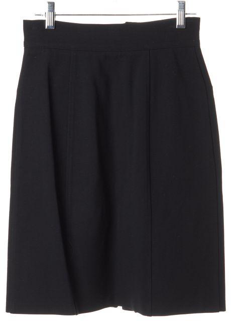 DIANE VON FURSTENBERG Navy Blue Pocket Front Knee Length A-Line Skirt