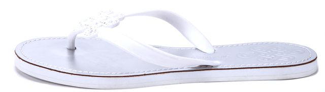DIANE VON FURSTENBERG White Rubber Lush Flip Flops