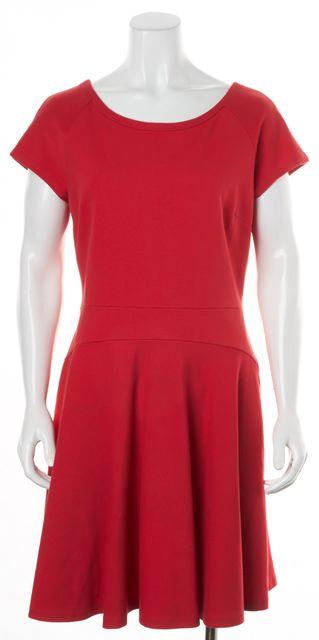 DIANE VON FURSTENBERG True Red Short Sleeve Delyse Fit Flare Dress