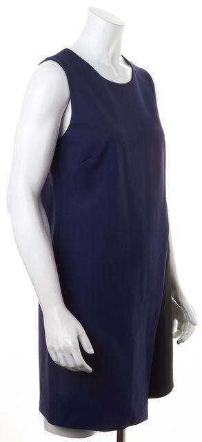 DIANE VON FURSTENBERG Midnight Blue Black DVF Livvy Sheath Dress