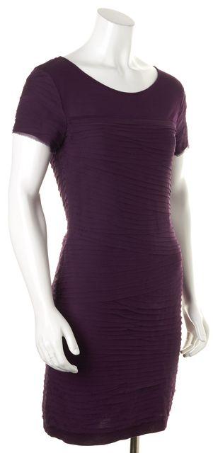 DIANE VON FURSTENBERG Purple Cap Sleeve Noelle Mini Sheath Dress