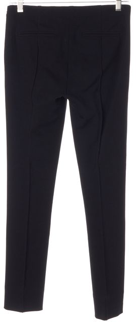 DIANE VON FURSTENBERG Black Solid Clean Pinca Crease Front Dress Pants