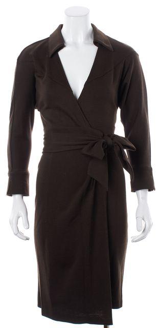 DIANE VON FURSTENBERG Brown Dress