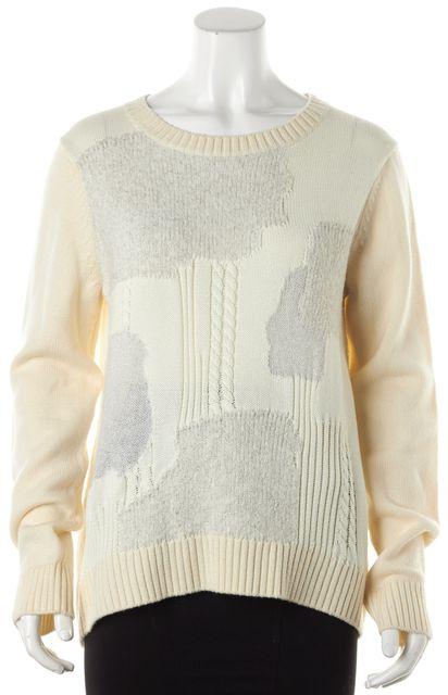 DIANE VON FURSTENBERG Ivory Embellished Crewneck Sweater