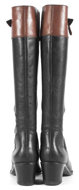 DIANE VON FURSTENBERG Black Leather Knee-high Tall Boots