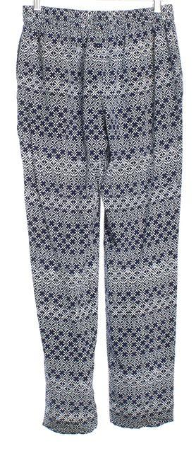 DIANE VON FURSTENBERG Blue Silk Jogger Pants