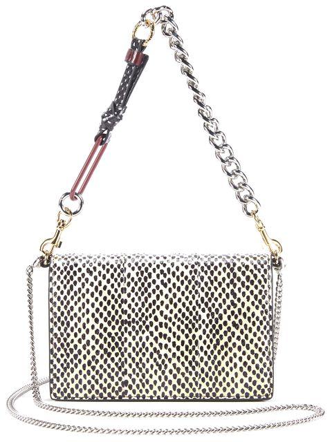 DIANE VON FURSTENBERG Beige Leather Mini Soiree Crossbody Handbag
