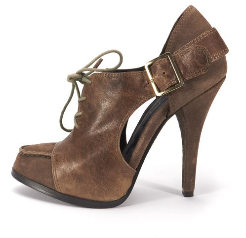 Gianvito Rossi Brown Suede Gladiator Style Lace Up Heeled Sandals