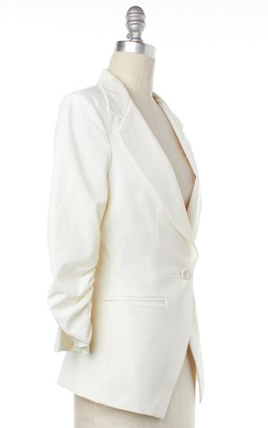 ELIZABETH AND JAMES Ivory Single Button Blazer