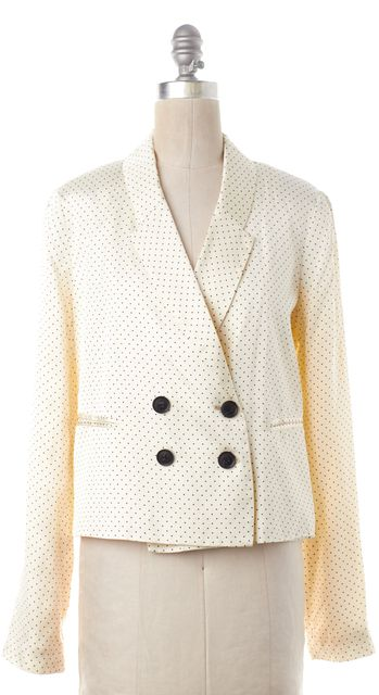 ELIZABETH AND JAMES Ivory Polka Dot Blazer