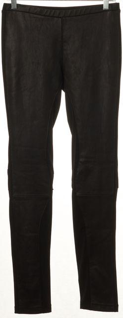 ELIZABETH AND JAMES Black Leather Panel Legging Pants