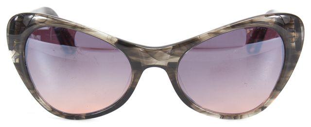ELIZABETH AND JAMES Gray Acetate Frame Gray Gradient Cat Eye Sunglasses