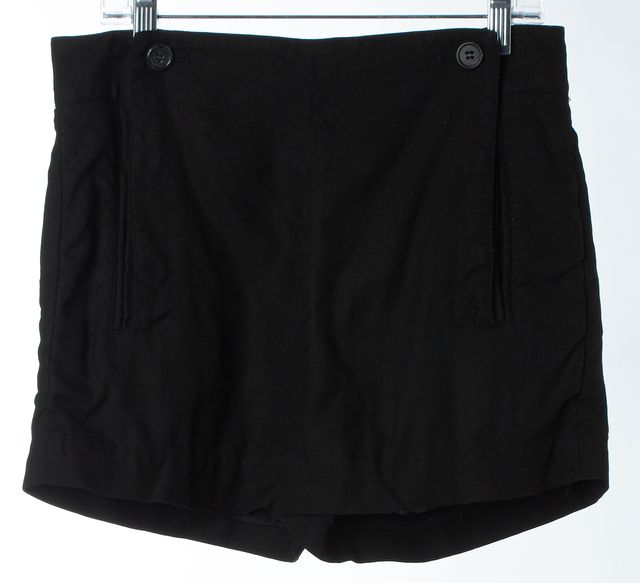 ELIZABETH AND JAMES Black High Waist Sailor Short Shorts