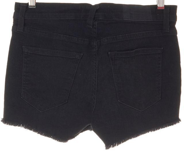 ELIZABETH AND JAMES Black Cotton Ruby Cutoff Denim Shorts