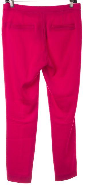 ELIZABETH AND JAMES Pink Wool Pleated Slim Leg Trousers Pants