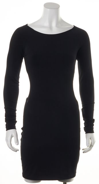 ELIZABETH AND JAMES Black Mesh Detail Bodycon Dress