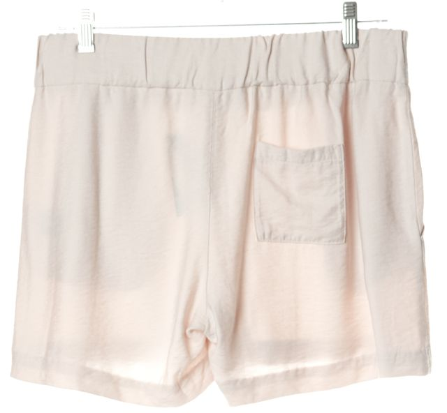ELIZABETH AND JAMES Beige Casual Elastic Waist Shorts