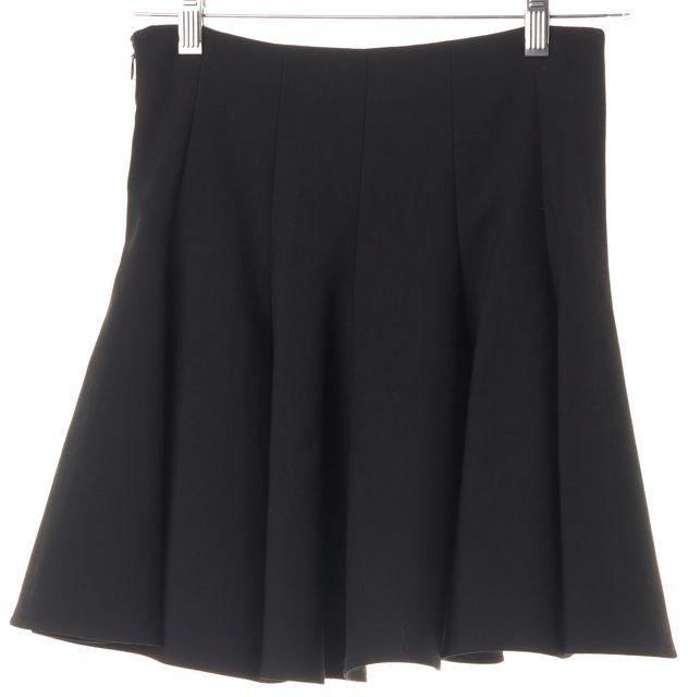 ELIZABETH AND JAMES Black Ponte Jersey Flounce Mini Skirt