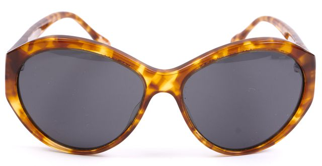 ELIZABETH AND JAMES Brown Tortoise Shell Acetate Round Beverly Sunglasses w/ Box